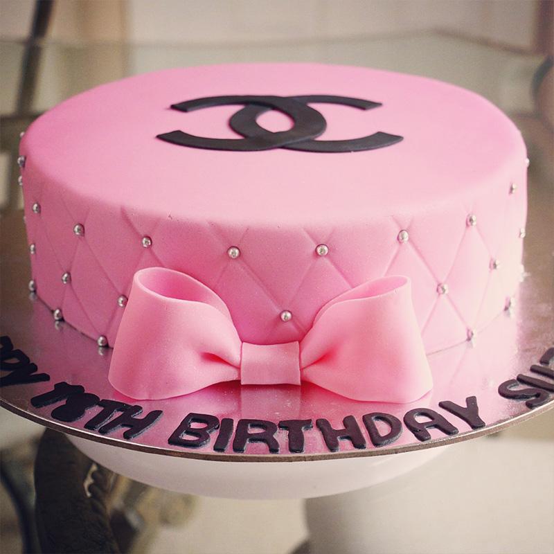 Marvelous Pink Chanel Miami Custom Cakes Funny Birthday Cards Online Elaedamsfinfo